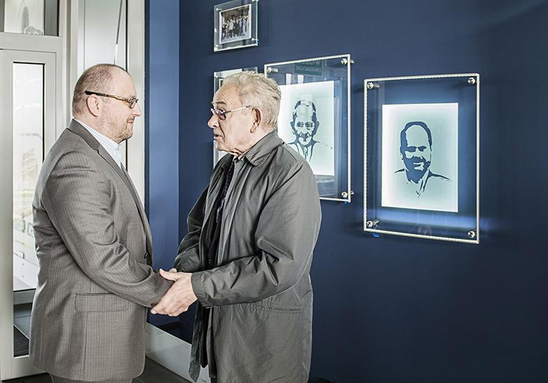 Prezes Arkadiusz Chmiel oraz założyciel firmy Bolesław Kania