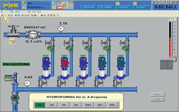 Wizualizacja hydroforni sieciowej