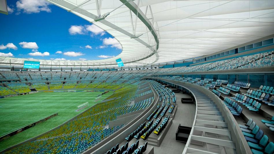 Stadion Maracanã w Brazylii w Rio de Janeiro