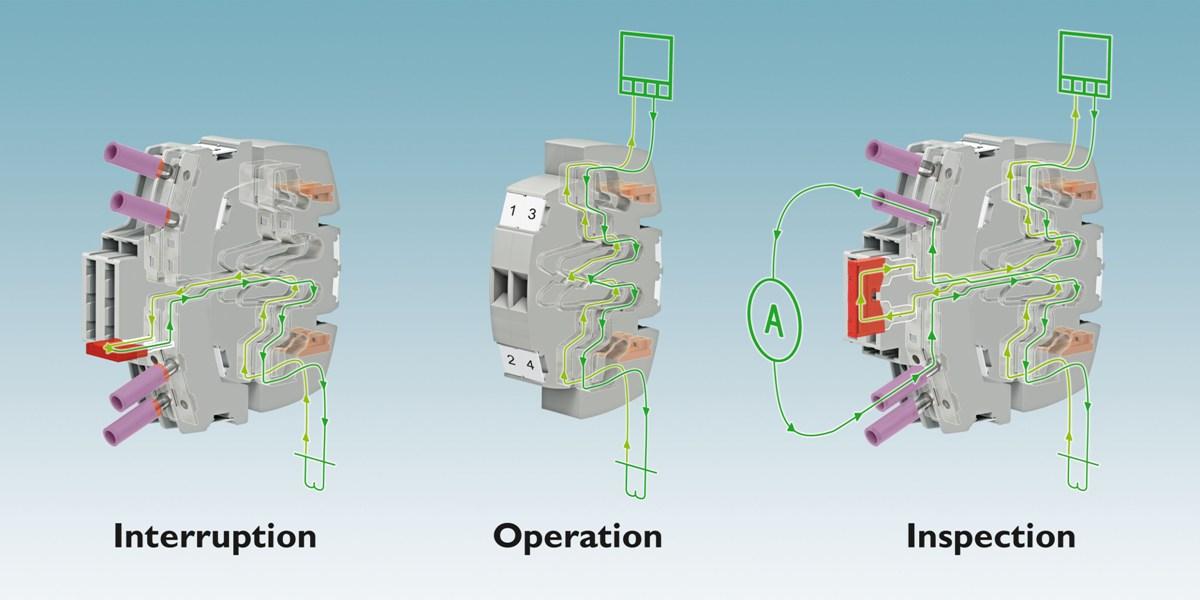 Rys. 2. Wtykowa listwa kontrolna systemu FAME 1 wymaga wtyku roboczego - przekładniki prądowe, napięciowe oraz sygnały sterujące są na różnych wtykowych listwach kontrolnych