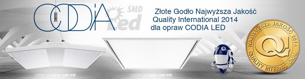 Oprawy CODIA LED ze złotym godłem QI 2014