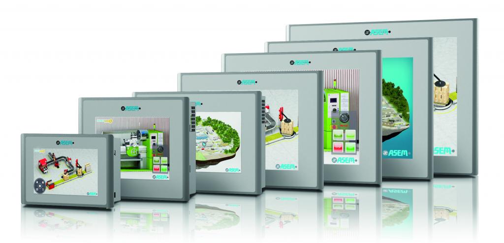 """Panele LP30/31 oferowane są w aluminiowych obudowach (również w wersji True Flat), w 7 wielkościach ekranu (od 5,7"""" do 15,6"""") i proporcjach obrazu 4/3 lub 16/9"""