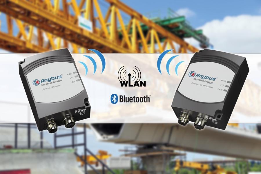 Bezprzewodowe łączenie urządzeń Anybus Wireless Bridge