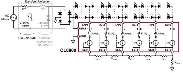 Uproszczony schemat blokowy układu CL8800