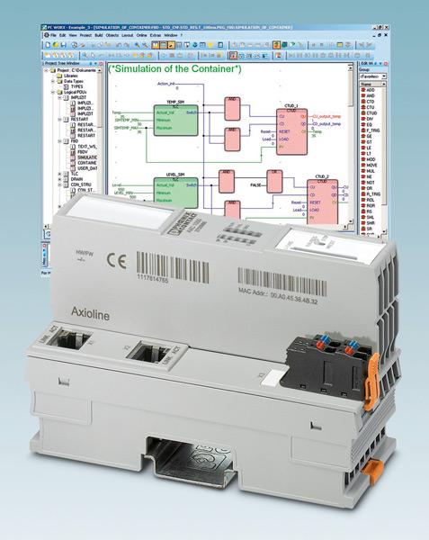 Rys. 1. Podobnie jak wszystkie sterowniki firmy Phoenix Contact, również urządzenia Axiocontrol są programowane za pośrednictwem narzędzia programistycznego PC Worx