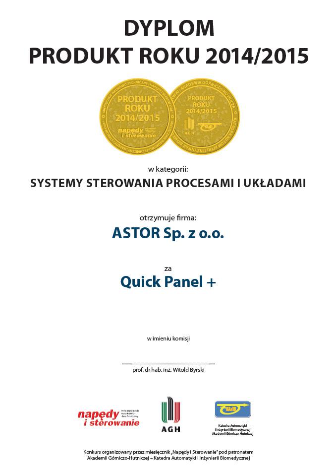 Produkt Roku 2014 2015 Quick Panel Plus ASTOR