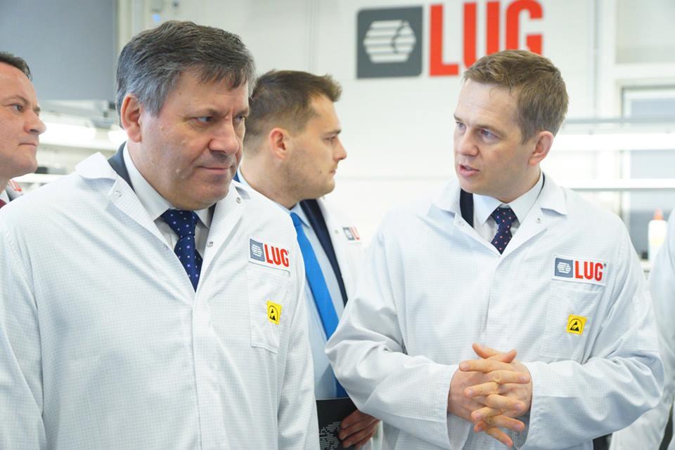 Wicepremier Janusz Piechociński z wizytą w LUG Light Factory