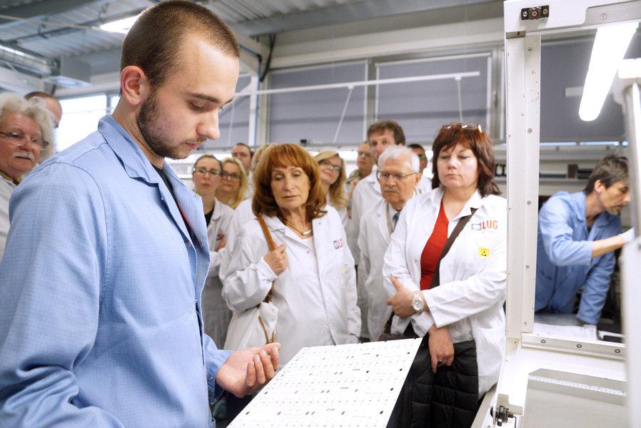 Architekci przyjrzeć się produkcji nowoczesnych modułów LED do produktów marek LUG, FLASH DQ i LUGBOX
