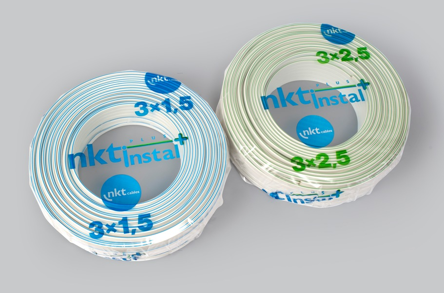 Przekroje przewodów nkt instal PLUS YDYp można łatwo rozróżnić po oznaczeniach kolorystycznych Fot.: nkt cables