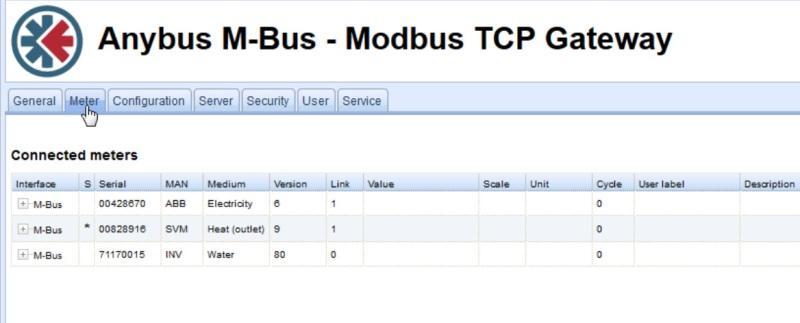 Mapowanie rejestrów Modbus jest w pełni zautomatyzowane. Konfiguracja odbywa się za pośrednictwem interfejsu sieciowego