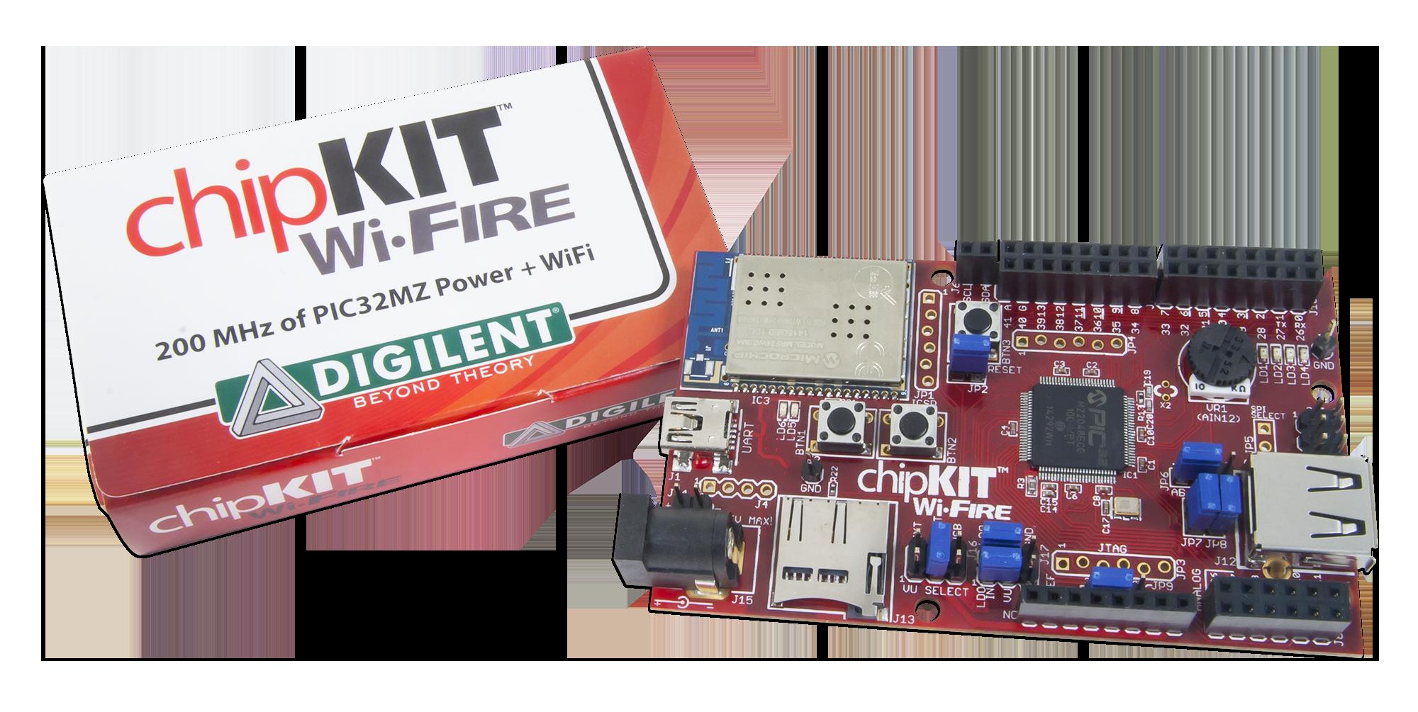Zestaw uruchomieniowy chipKIT™ Wi-FIRE (410-302P-KIT)
