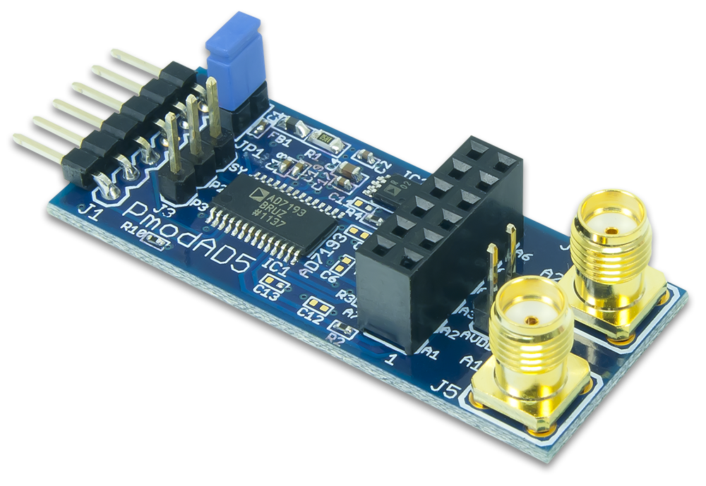 PmodAD5 - 4 channel 4.8 KHz 24 bit A/D converter