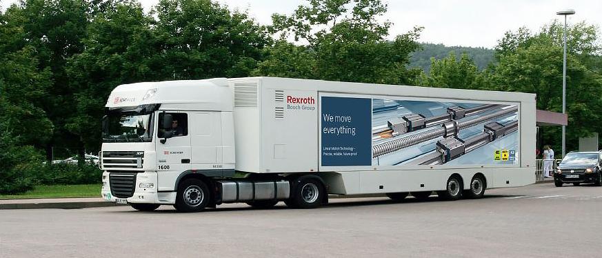 Roadshow – objazdowa wystawa firmy Bosch Rexroth prezentująca nowości z zakresu techniki przemieszczeń liniowych i napędów elektrycznych