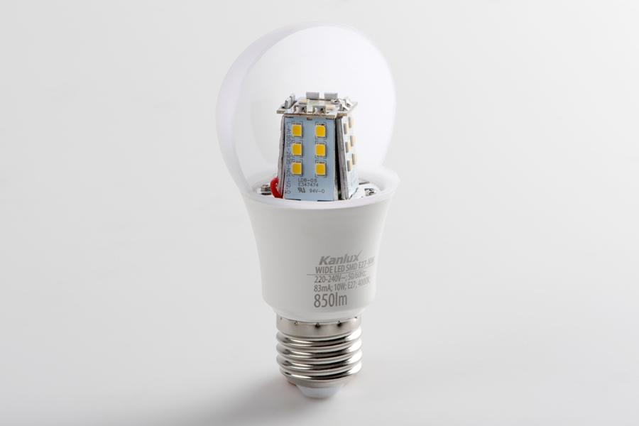 Przekrój źródła światła WIDE LED