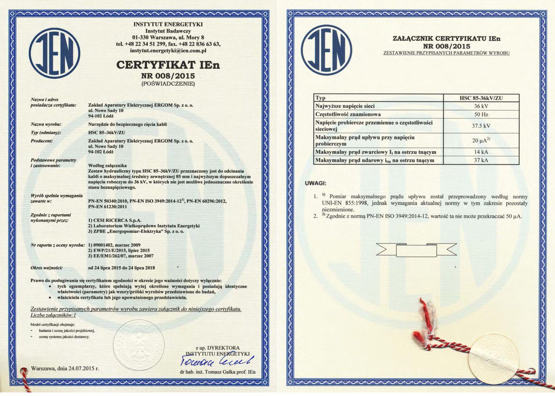 Certyfikat IEn