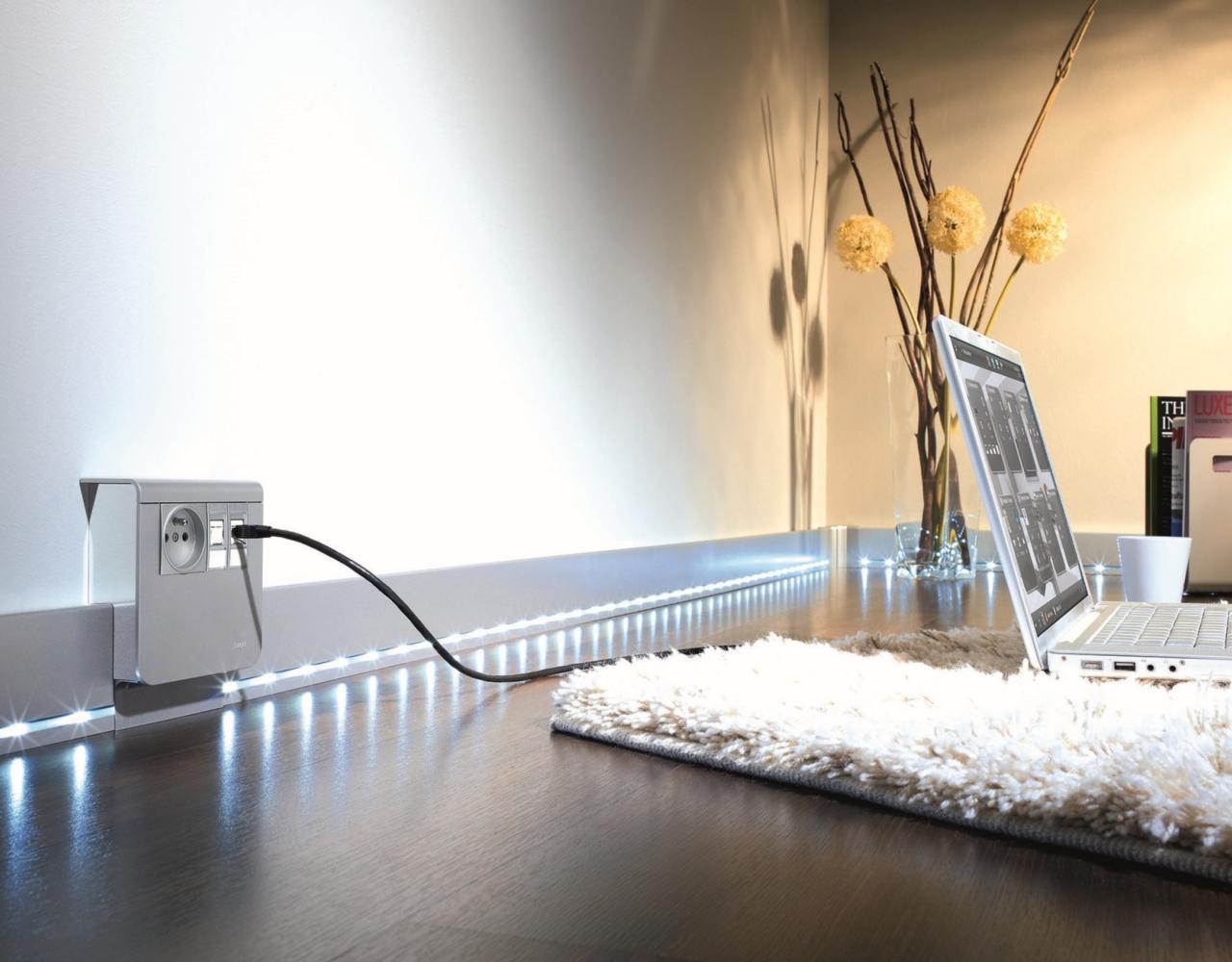 elektroinstalacyjne listwy przypodłogowe tehalit.SL firmy Hager
