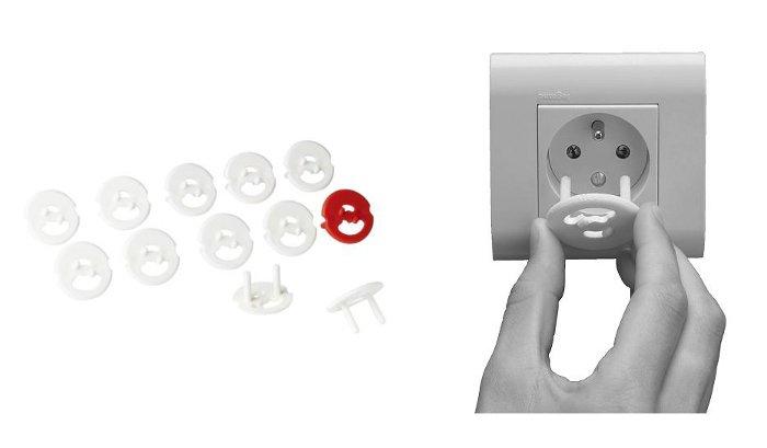 Zatyczki ochronne na gniazdka elektryczne