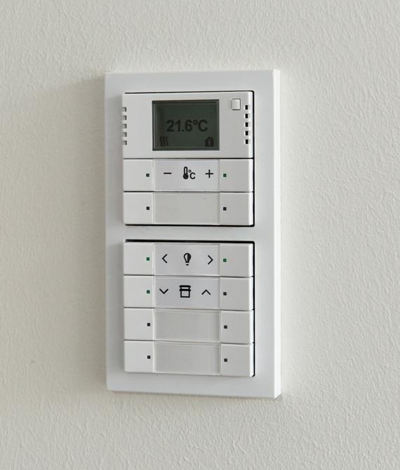 inteligentny system obsługi budynku ABB jest opracowany tak, by utrzymywać we wnętrzu doskonały klimat dzięki zoptymalizowanej temperaturze, jakości powietrza i oświetleniu.