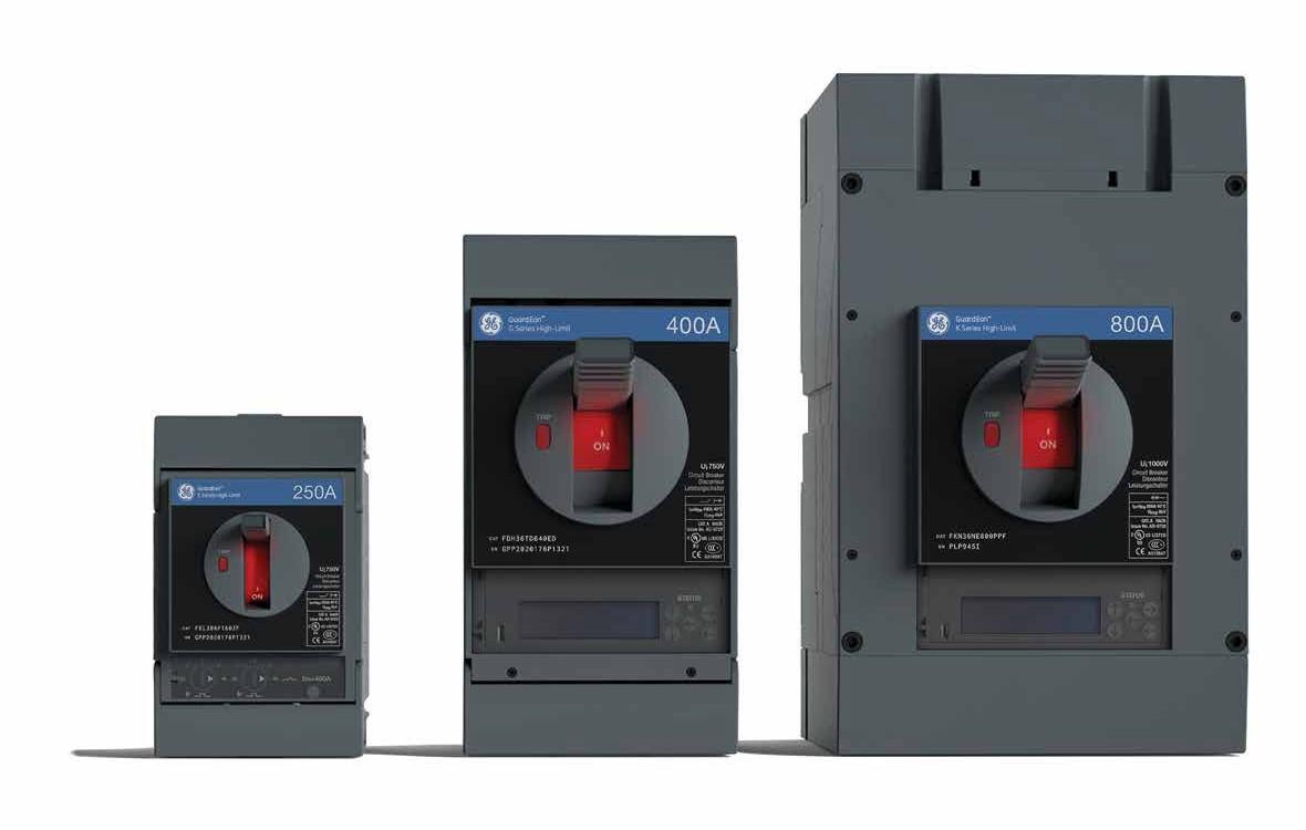 Kompaktowe wyłączniki niskiego napięcia GE GuardEon*