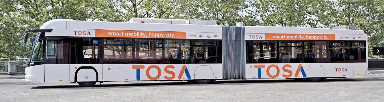Elektryczny autobus TOSA (Trolleybus Optimisation Système Alimentation)