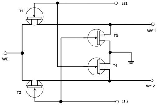 Fig. 10. SPDT circuit diagram