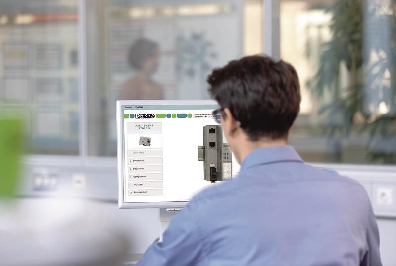 Parametryzacja stacji I/O jest bardzo prosta przy zastosowaniu interfejsu sieciowego.