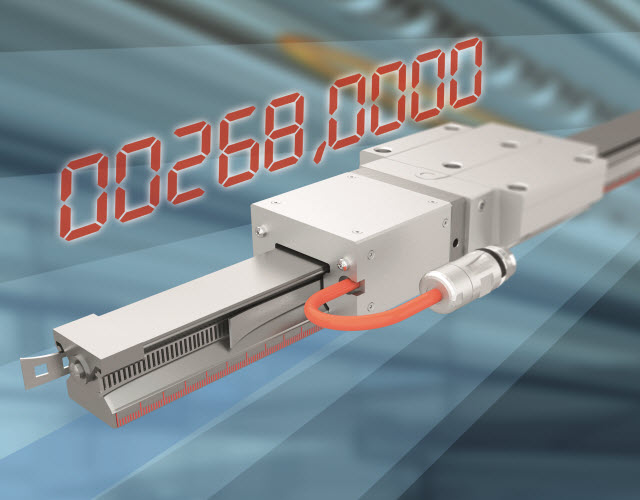 Funkcje prowadzenia i wykonywania pomiaru w jednym urządzeniu: Zintegrowany system pomiarowy IMS-A bardzo precyzyjnie odczytuje położenie bezwzględne metodą indukcyjną, nawet jeśli jest poddawany obciążeniom mechanicznym w zanieczyszczonym środowisku. System ten został wyposażony w prowadnice liniowe z możliwością zapisu wartości bezwzględnej, o dokładności porównywalnej z precyzyjnym liniałem optycznym. Jest on za to bardziej wydajny.