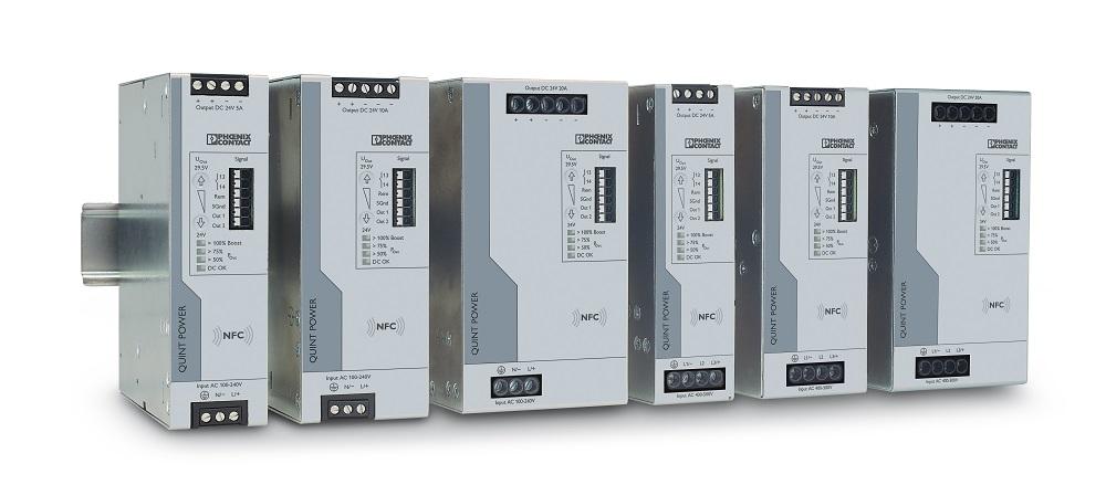 Nowe zasilacze są dostępne w wersjach jedno- i trójfazowych z prądem znamionowym 5 A, 10 A i 20 A.