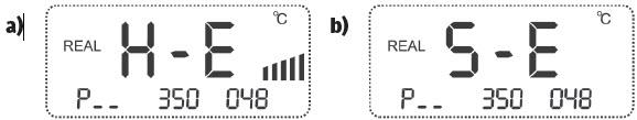Rys. 3. Komunikaty o: a) uszkodzeniu elementu grzejnego, b) uszkodzeniu czujnika do pomiaru temperatury