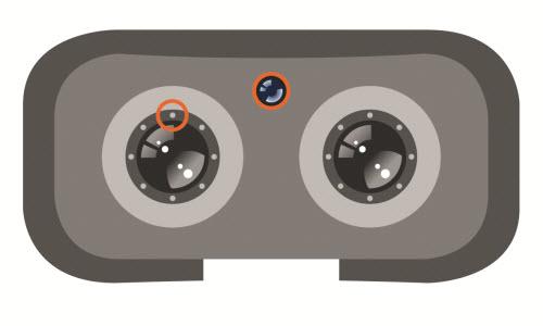 Do optymalizacji pozycjonowania użytkownika, w systemach VR często montuje się specjalne odbiorniki i nadajniki w headsecie. Źródło: Osram