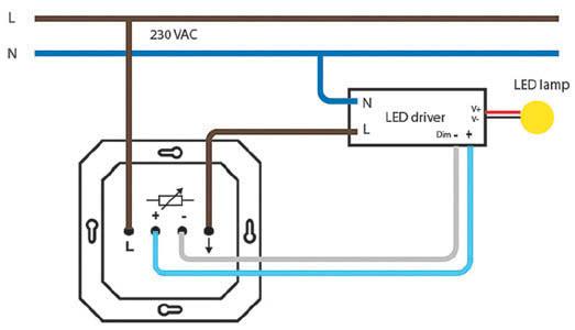 Sposób podłączenia sterownika 1–10 V