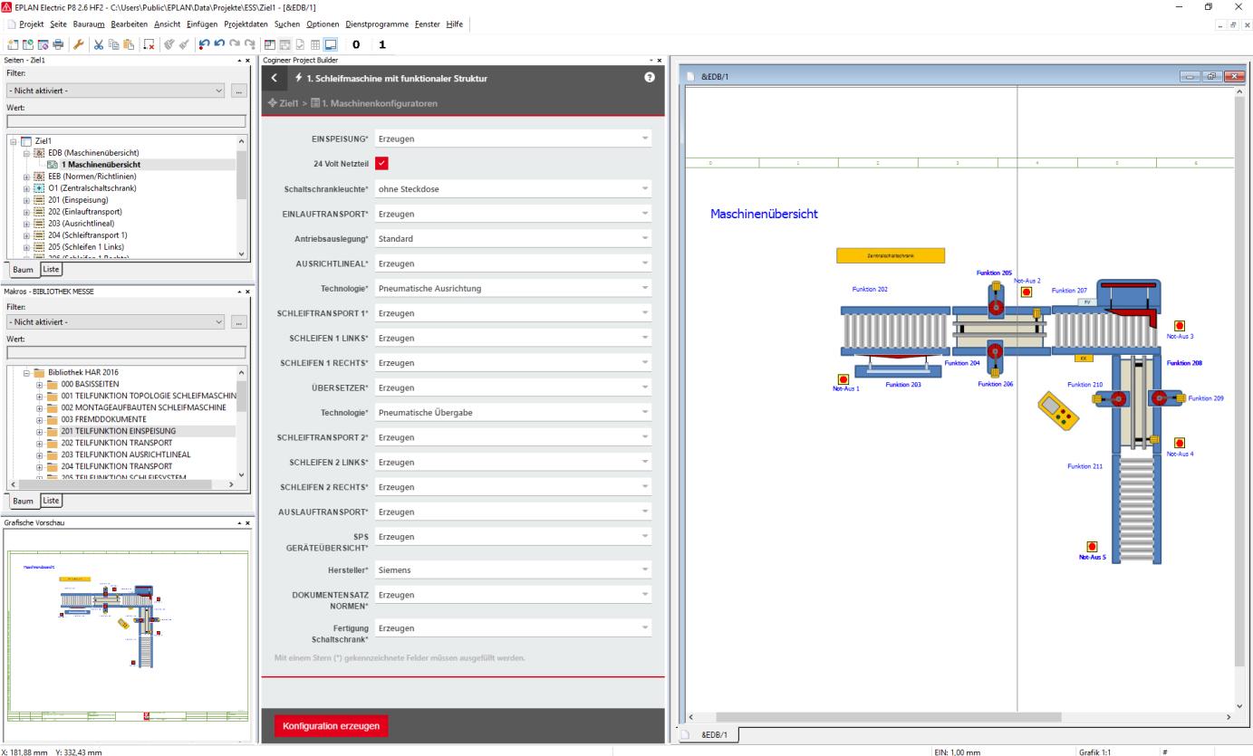 Nowe rozwiązanie EPLAN Cogineer jest w pełni zintegrowane ze środowiskiem Platformy EPLAN (kliknij zdjęcie aby powiększyć)