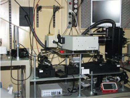 Fig. 3. View of lab-setup for testing detector spectral characteristics at the Institute of Fundamental Electronics, MUT