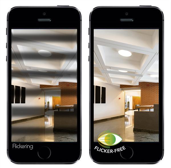 Niemigoczące oświetlenie sufitowe LED z pośrednim wyładowaniem koronowym i antyrefleksyjnym dyfuzorem