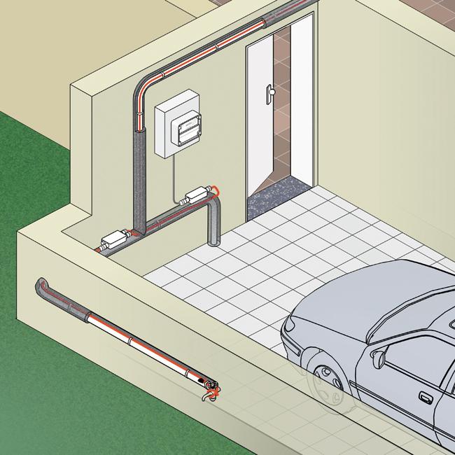 System elektrycznego ogrzewania zabezpieczający rury przed zamarzaniem