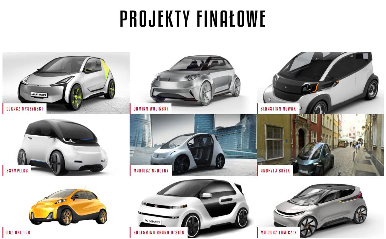 Finałowe projekty pierwszego polskiego samochodu elektrycznego w konkursie ElectroMobility Poland