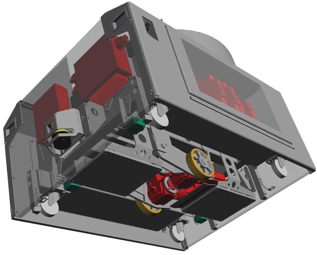 System napędowy wózków AGV