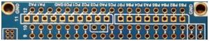 Rys.11.b. Zaznaczony obszar do wlutowania złączy kompatybilnych z Arduino UNO (część cyfrowa)