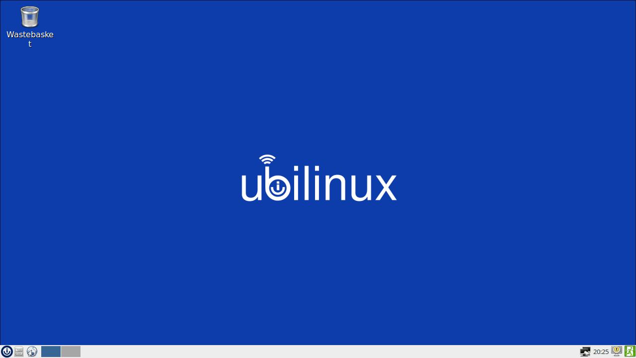 Rys. 6:  Ekran startowy systemu ubilinux