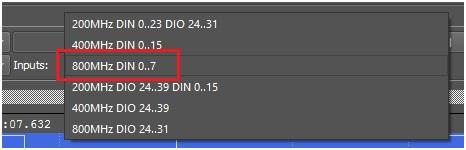 fot. 11 Wybór opcji 800 MS/s ogranicza wejścia tylko do pinów 0–7.