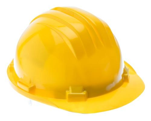 Żółty kask ochronny HT5K183