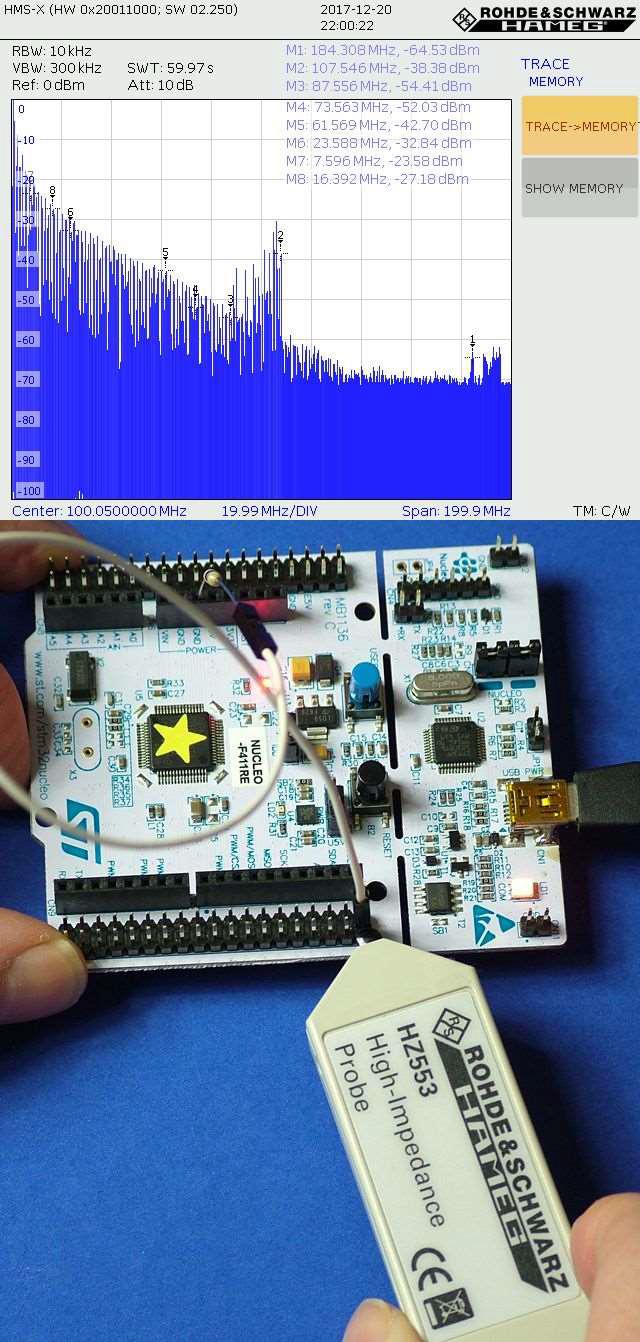 Wyniki pomiarów sondą wysokoimpedancyjną HZ553