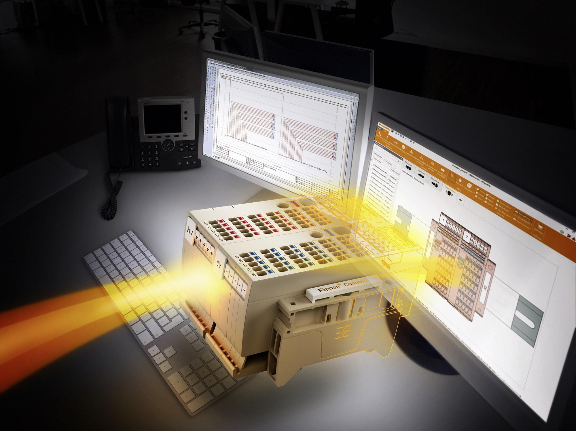 Rys. Weidmuller Configurator:  Weidmuller Configurator -  oprogramowanie inżynierskie od konfiguracji listew ze złączkami oraz innych zestawów z produktów Weidmuller, współpracujące z popularnymi programami do projektowania.