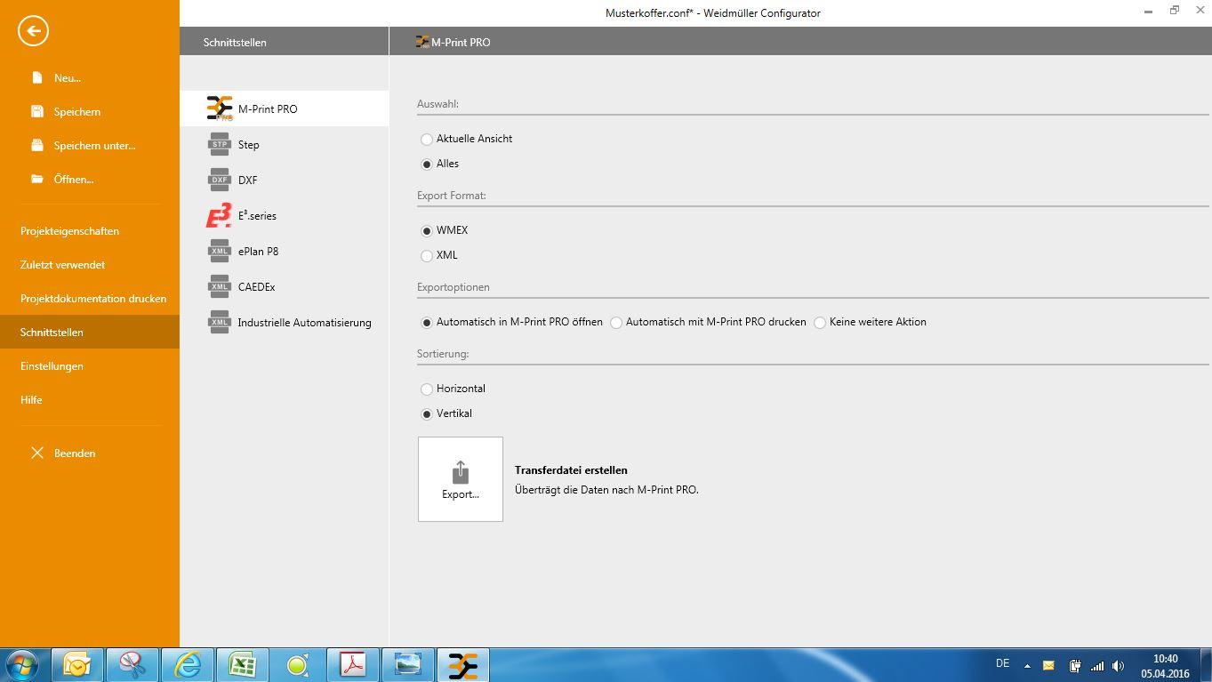 Rys. 3 - Weidmüller Configurator umożliwia wymianę danych między programem CAD i programem systemu znakowania M-Print® PRO dla łatwego opisywania komponentów.
