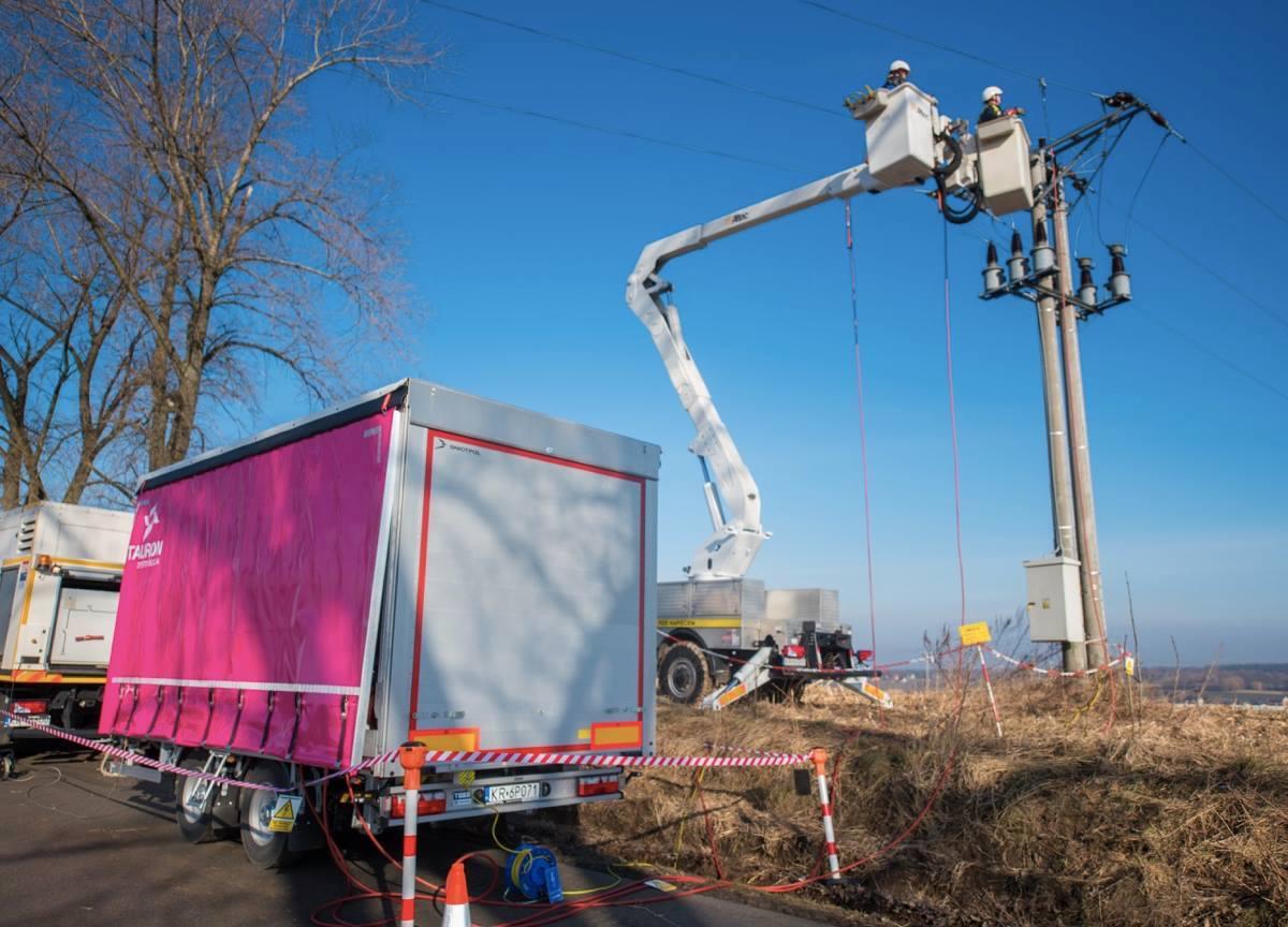 Mobilne Urządzenie Zasilające (MUZ) jest stosowane przede wszystkim na terenach wiejskich