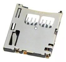 Gniazdo karty pamięci microSD do montażu powierzchniowego, rozstaw pinów 1.10mm, typ Push-Push