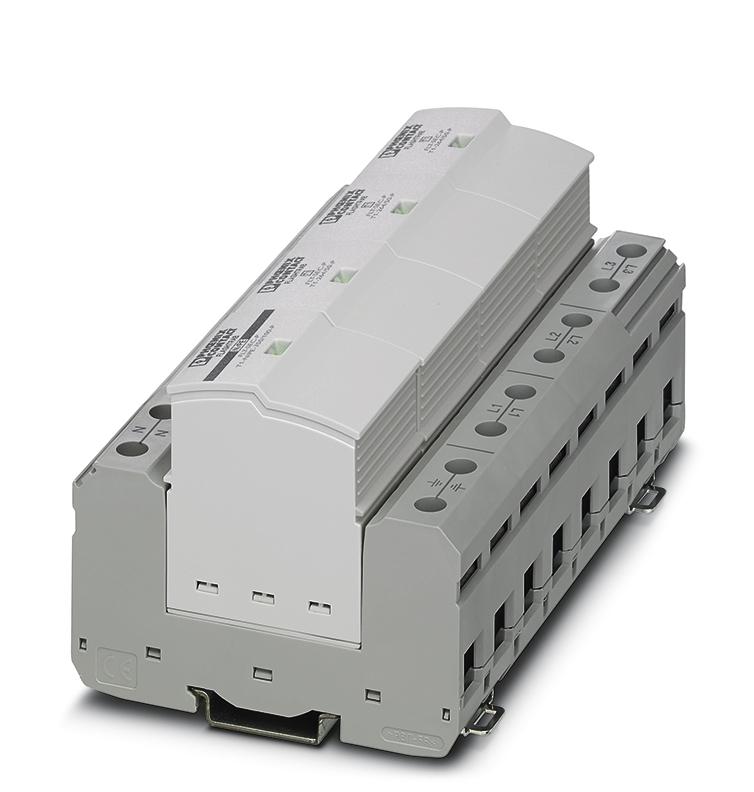 Ogranicznik typu 1 o prądzie Iimp 50kA 10/350µs dla każdego z pól ogranicznika