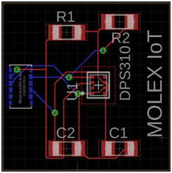 Projekt płytki modułu czujnika ciśnienia