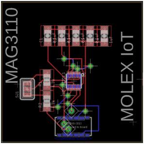 Projekt płytki czujnika magnetycznego