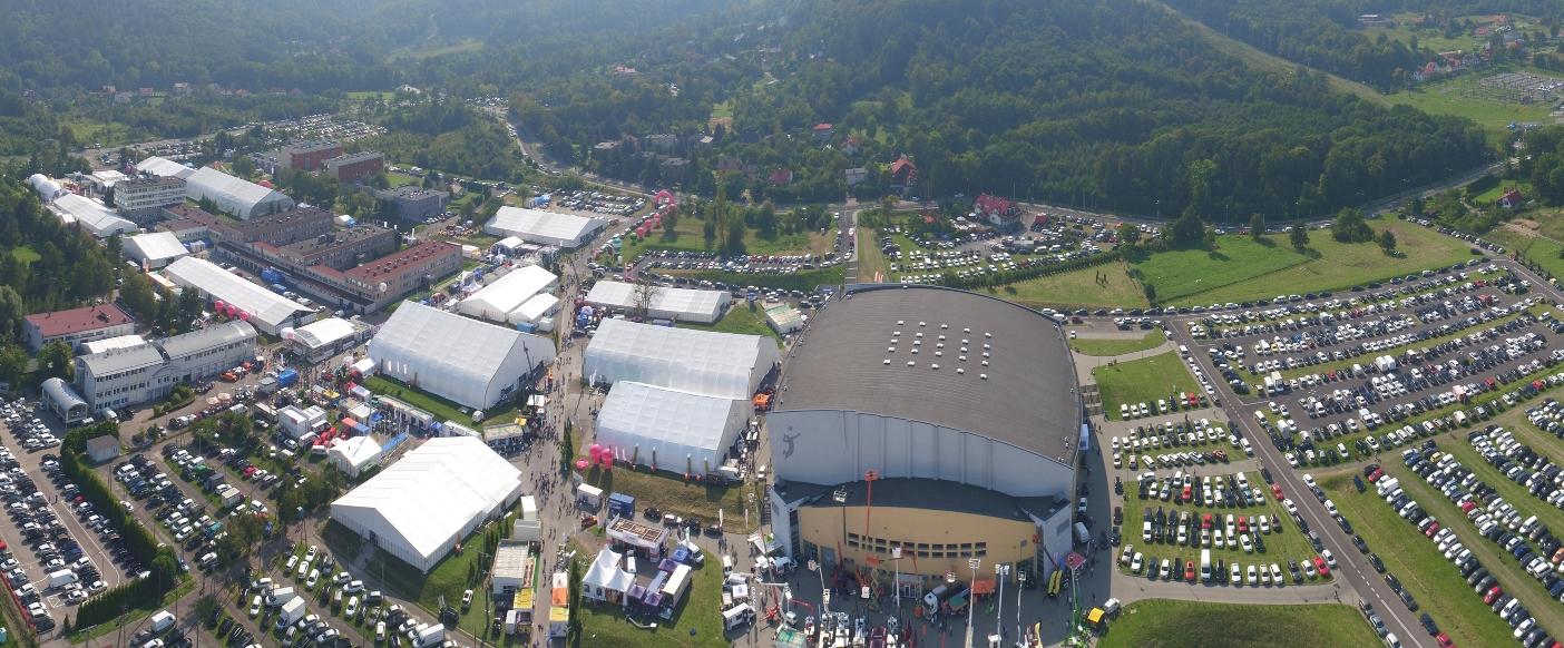 Widok na targi Energetab z drona